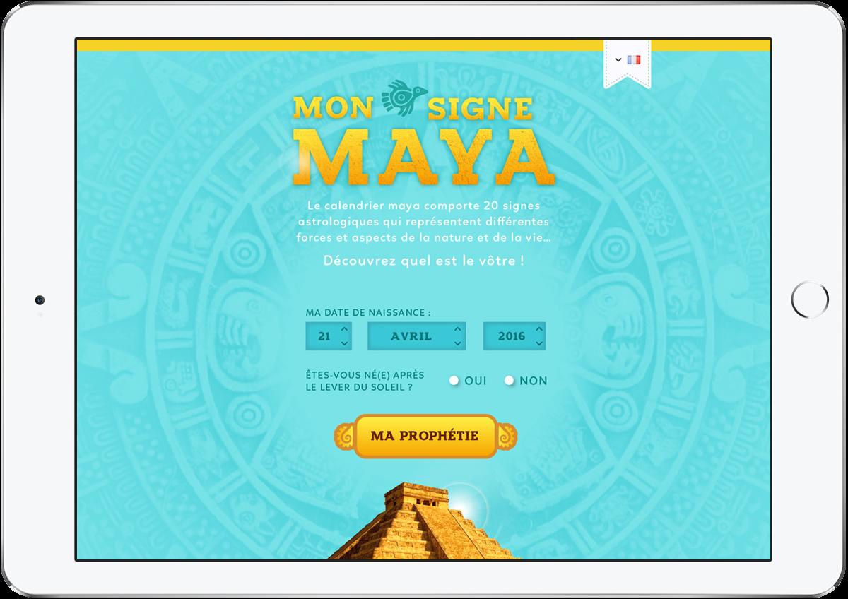 Calendrier Maya Signe.Speculo Joli Graphisme Mon Signe Maya